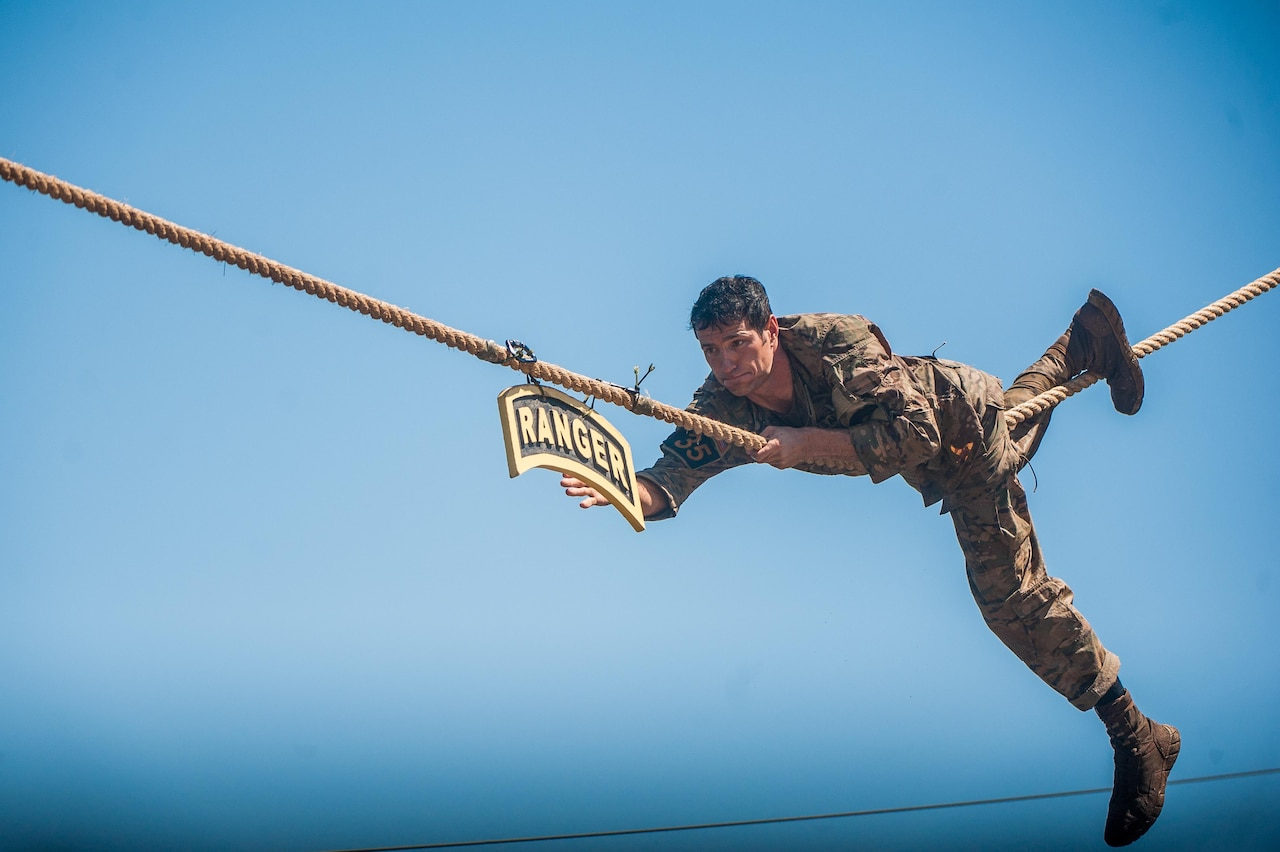 Army Master Sgt. Josh Horsager of the 75th Ranger Regiment took first place in the 2017 Best Ranger competition held April 7-9, 2017, at Fort Benning, Ga. The event is in its 34th year. The competition is designed to determine the Army's best two-soldier Ranger team. Army photo
