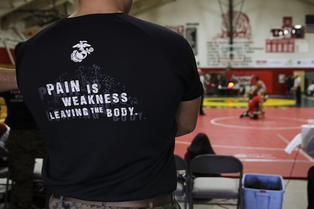Imperial High School hosts the sixth Frankie Ramos Memorial JV Wrestling Tournament, Jan. 7, 2017 in Imperial, Calif. Frankie Ramos was a Lance Cpl. in the U.S. Marine Corps and passed away March 19, 2010 while serving as a recruiting aid. The tournament was started by Tirso Lara, Frankie's wrestling coach when he attended Imperial, in order celebrate Frankie's life and to motivate and inspire young wrestlers in Southern California. (U.S. Marine Corps photo by Sgt. William Hester/ Released)