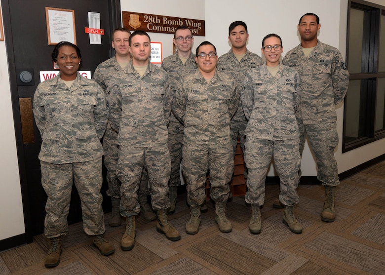 The 28th Bomb Wing Command Post at Ellsworth Air Force Base, S.D., was named the 2016 Medium Unit Command Post of the Year for Air Force Global Strike Command. The unit is on call 24/7 to deliver rapid notifications to the base populace during any type of emergency. The command post will go on to compete for the Air Force 2016 Medium Unit Command Post of the Year award. (Air Force photo by Airman 1st Class Denise Jenson)