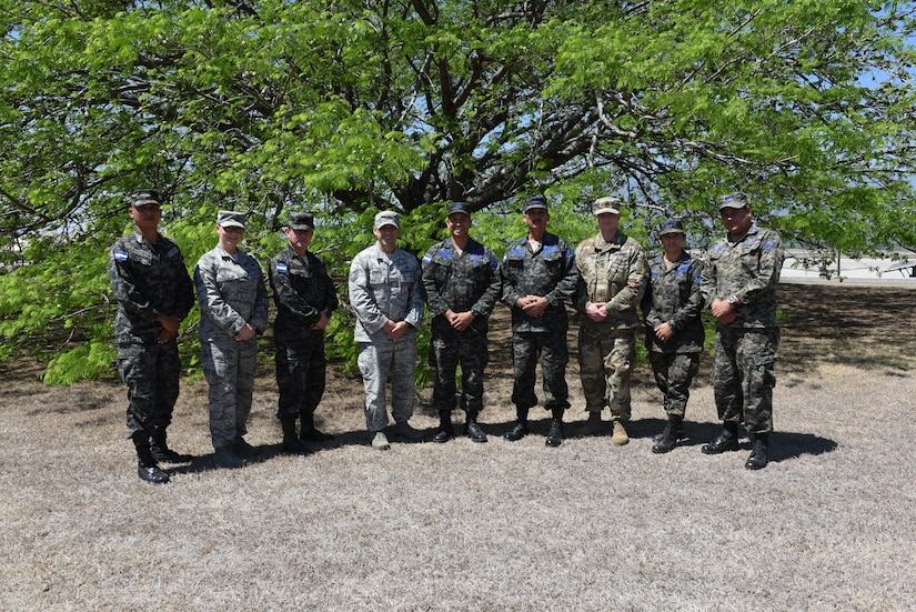 Honduran and U.S. Senior Enlisted Advisors pose for a group photo at Soto Cano Air Base, March 24 after designing a Program of Instruction to professionalize local forces. Their goal is to achieve a higher level of professionalism, using new teaching techniques that will allow them to pass on knowledge for future generations of soldiers across the armed forces.
