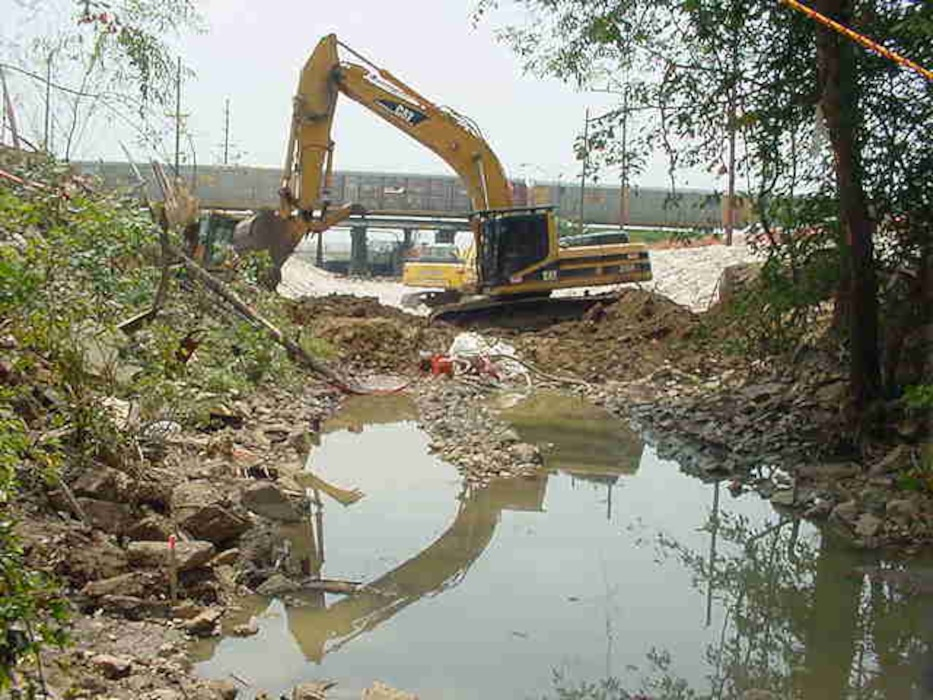 The U.S. Army Corps of Engineers' Formerly Utilized Sites Remedial Action Program (FUSRAP) is currently remediating properties adjacent to Coldwater Creek from upstream to downstream. In 1998, USACE removed contamination from Coldwater Creek to support the City of Florissant's upgrade of the St. Denis Bridge over the creek. In 2005, contamination in CWC was removed as part of the cleanup at SLAPS.