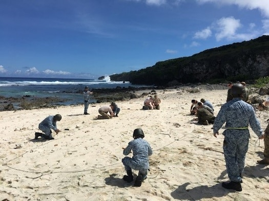 Airmen from the Republic of Singapore Air Force conduct demolition training Feb. 10, 2017, on Andersen Air Force Base, Guam. The 554th RED HORSE Squadron hosted a training exchange at the Pacific Air Forces' Regional Training Center Feb. 8-15, at Northwest Field on Andersen AFB. (Courtesy photo)