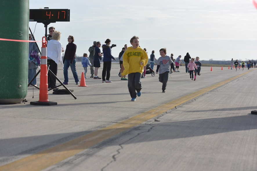 The 180th Fighter Wing, Ohio Air National Guard, partnered with The Arms Forces to host the I Believe I Can Fly 5k, April 9, 2017, at the Toledo Express Airport in Swanton, Ohio. More than 250 runners participated in the race, focused on raising awareness for veterans and current military members battling the invisible wounds of Post-Traumatic Stress Disorder and Traumatic Brain Injuries. The race, now in its third year, provides runners of all ages, the rare opportunity to run a unique course, down the taxiways used by Northwest Ohio's very own 180FW, while also promoting awareness and raising funds to benefit our veterans who have given so much to our great nation.  (U.S. Air National Guard photo by Tech. Sgt. Nic Kuetemeyer)