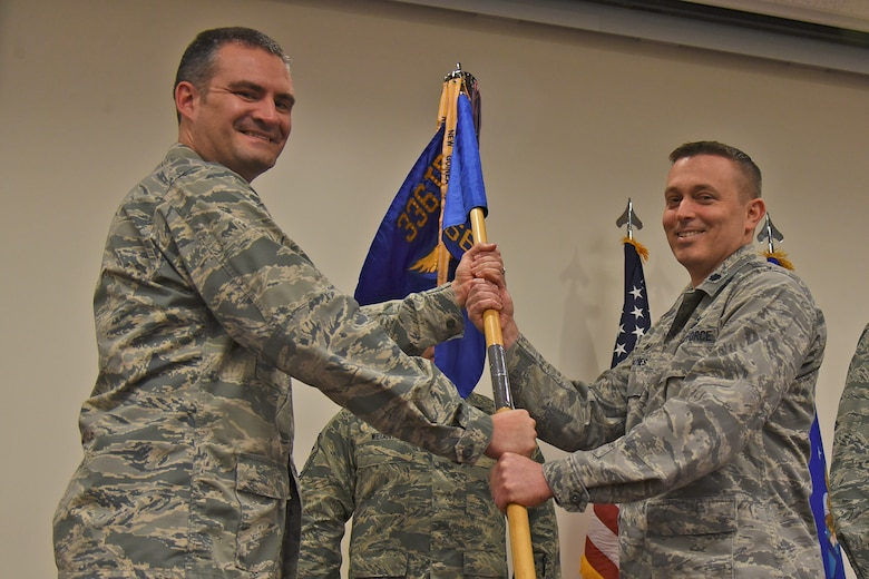 Lt. Col. Erik Haynes assumed command of the 66th Training Squadron from Lt. Col. David C. Rea during a ceremony Apr. 10, 2017, at Fairchild Air Force Base, Washington. Haynes assumes command after calling Fairchild home for two years as the 66th TRS operations officer, under the command of Lt. Col. David Rea.