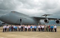 Members of the Air Force Scientific Advisory Board received a 433rd Airlift Wing mission brief and C-5M Super Galaxy aircraft tour during their visit April 11, 2017 at Joint Base San Antonio-Lackland, Texas. The SAB is a Federal Advisory Committee that provides independent advice on matters of science and technology relating to the Air Force mission, reporting directly to the Secretary of the Air Force and the Chief of Staff of the Air Force.  (U.S.  Air Force photo by Benjamin Faske)