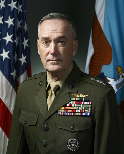 Chairman of the Joint Chiefs of Staff Joseph F. Dunford is scheduled to give the commencement speech for the Class of 2017 graduation ceremony May 24, 2017, at the U.S. Air Force Academy. (Department of Defense photo)