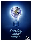 The United States Air Force encourages installations to participate in the Earth Day observance on April 22, 2017 by sharing going green methods and energy saving ideas via social media by using #EarthDay2017. The digital artwork depicts the concept of energy saving awareness displaying the earth inside a light bulb. This year's theme is conserve today, secure tomorrow, showing the importance of the little things Airmen can do today to help protect the environment. (Courtesy Photo/Released).