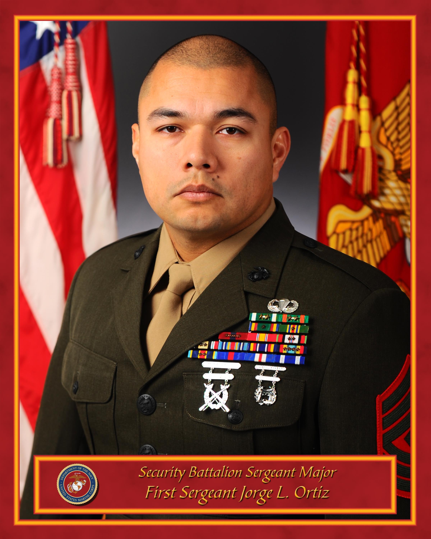 First Sergeant Jorge L. Ortiz > Marine Corps Base Quantico ...