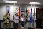 Sue Gibson, inventory management specialist at DLA Distribution Red River, Texas, was awarded the Achievement Medal for Civilian Service by TACOM on Mar. 8.