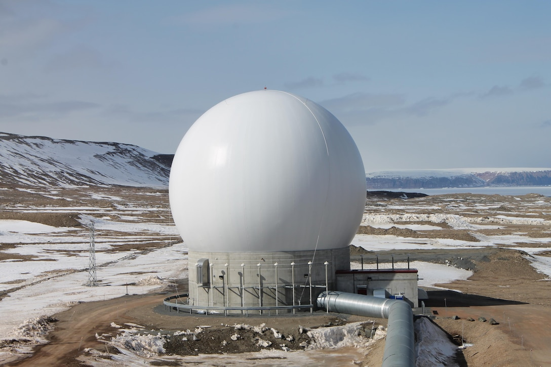 A remote block change antenna designated as POGO-Charlie, operated by Detachment 1, 23rd Space Operations Squadron at Thule Air Base, Greenland July 26, 2016. Detachment 1 provides vital support to Schriever and the Air Force Satellite Control Network, providing telemetry, tracking and command technologies. (Courtesy Photo)