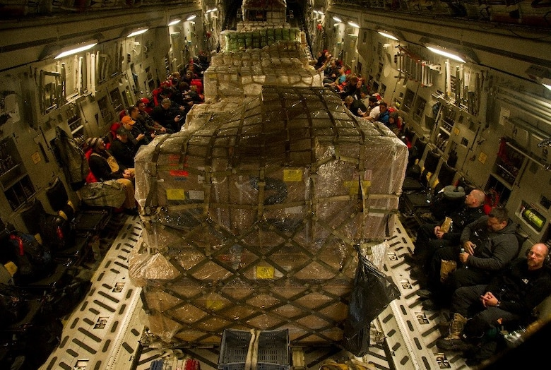 Passengers and cargo heading to McMurdo Station, Antarctica, are ready to fly during Operation Deep Freeze (ODF), July 15, 2016 at Christchurch International Airport, New Zealand. Operation Deep Freeze is a joint operation between the U.S. Air Force, the National Science Foundation, and the Royal New Zealand Air Force. (U.S. Air Force Reserve photo by Staff Sgt. Madelyn McCullough)
