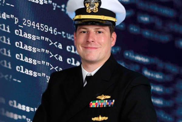 Navy Lt. Brendan Geoghegan has been selected for the Computer Network Operations Development Program, a prestigious, but technically demanding, three-year internship that would culminate in him graduating as one of the leading computer networking experts in the Department of Defense. Navy illustration by Mass Communication Specialist 1st Class Russel Schnaare
