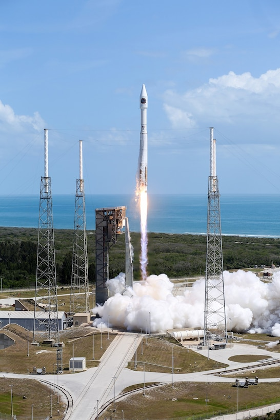 The U.S. Air Force's 45th Space Wing supported NASA's successful launch of Orbital ATK's Cygnus spacecraft aboard a United Launch Alliance Atlas V rocket from Space Launch Complex 41 here April 18 at 11:11 a.m. ET.