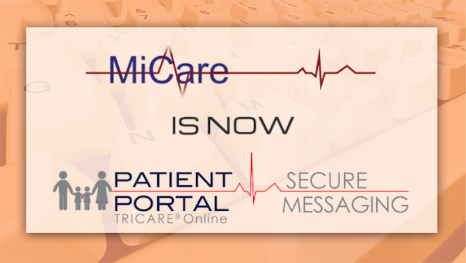 MiCare is now Patient Portal: Secure Messaging