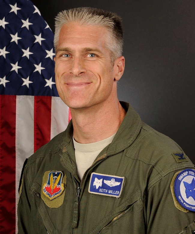 South Carolina Air National Guard portrait of U.S. Air Force Col. Keith Miller, commander of the 169th Operations Group, from McEntire Joint National Guard Base, S.C., September 30, 2015. (U.S. Air National Guard photo by Airman Megan Floyd/Released)