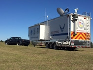 The Mobile Emergency Operations Center is set up for interagency use at Camp Shelby, Mississippi during the Patriot South Exercise. This exercise simulated a tsunami caused by an earthquake and provided valuable training to military personnel in the event of a major weather incident.