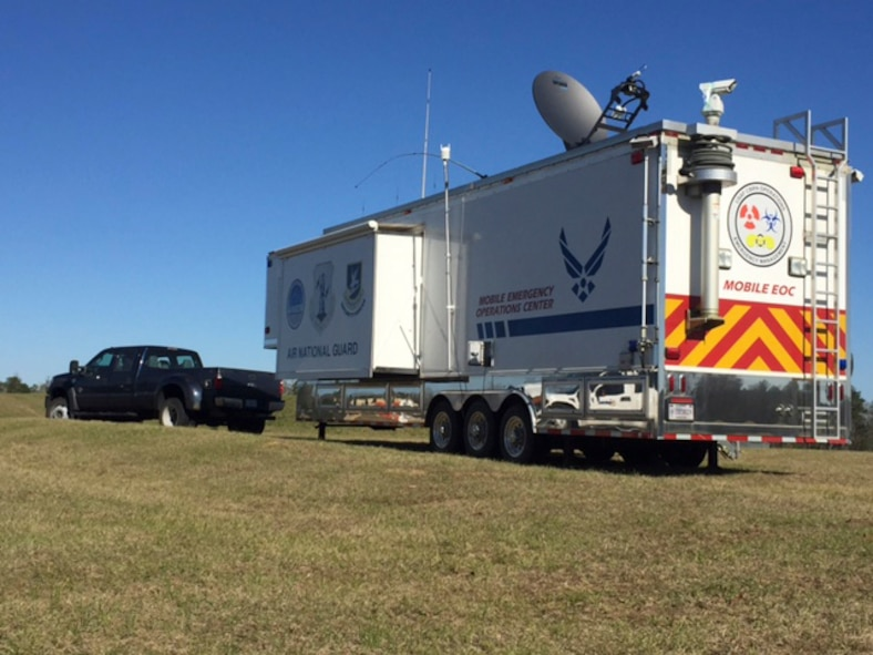 The Mobile Emergency Operations Center is set up for interagency use at Camp