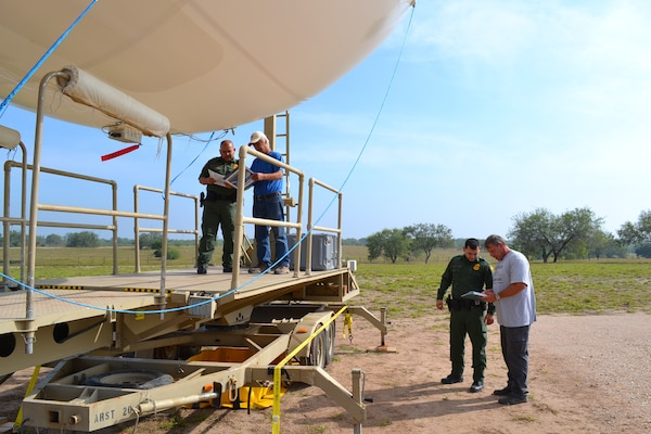 U.S. Border Patrol agents assigned to the Rio Grande Valley Sector in Texas undergo familiarization and training by support personnel from the U.S. Army aerostat program. The Border Patrol agents have been using these camera-equipped aerostats since 2012.