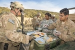 Soldiers with the 4th Infantry Division, Fort Carson, Colorado, participate in the U.S. Army Natick Soldier Research Development and Engineering Center annual ration field trials in July 2016. DLA veterinarians inspect military food supplies, supervise operational ration assembly plants, as well as supply and distribution points, and they approve food sources around the world.