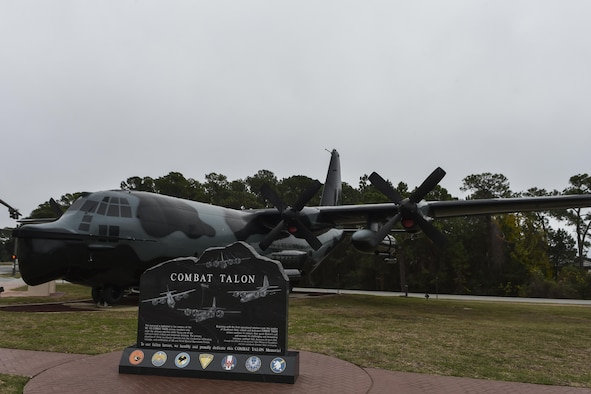 MC-130E Combat Talon I in the Hurlburt Field Air Park.