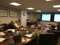 The Planning Center of Expertise for Inland Navigation and Risk-Informed Economics Division (PCXIN-RED) and the leadership team of Detroit District, LTC Sugrue (Commander) and Scott Thieme (DPM), hosted a partnering meeting with the State of Michigan Governor's Cabinet and industry stakeholders in Huntington, WV.  Purpose of the meeting was to discuss the economic analysis for the Soo Lock Project.