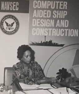 "Raye Montague - the Navy's 'hidden figure' - works at her Naval Ship Engineering Center office in this undated photograph. Montague was the keynote speaker at a National Women's History Month Observance held at Naval Support Facility Dahlgren in April 2017. I thought about all of things that happened to me in my career "" all the doors that I had opened and glass ceilings that I broke, she recounted at the observance. I didn™t realize that I was breaking glass ceilings back then. I was just doing what had to be done."" Montague was the first person to design a U.S. Navy ship and served as the Program Manager of Ships (PMS-309) for the Naval Sea Systems Command Information Systems Improvement Program."