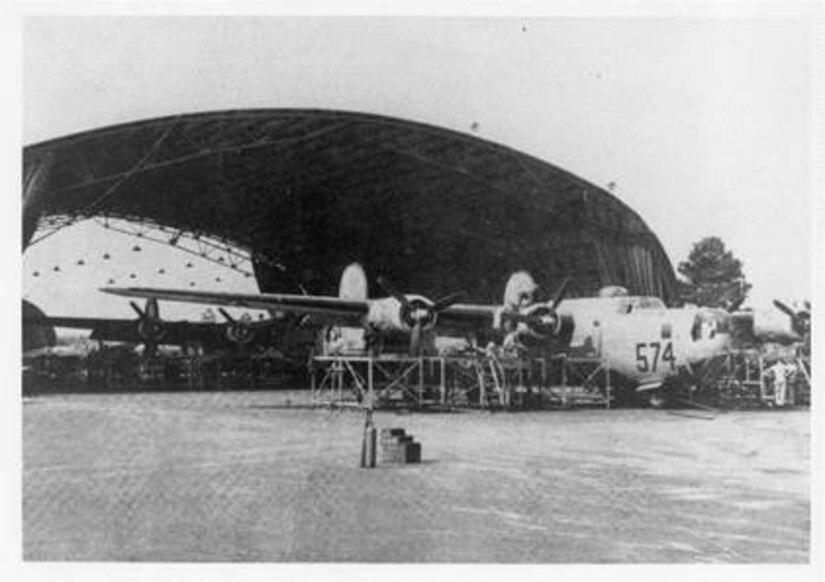 A B-24 Liberator at Charleston Army Air Field.