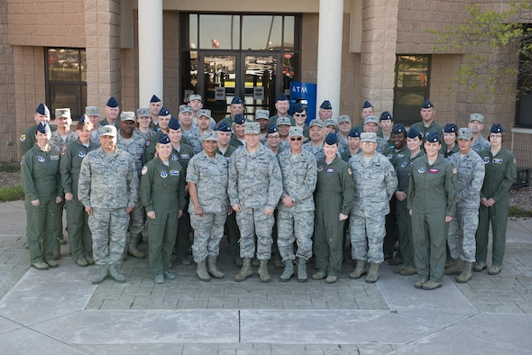 The 137th Special Operations Wing hosted commanders from all nine Air National Guard aeromedical evacuation squadrons for an AES commander's workshop at Will Rogers Air National Guard Base in Oklahoma City, April 4-6 , 2017. Aeromedical squadrons are responsible for the medical care of patients during transportation between military installations and primarily work on the KC-135 Stratotanker, the C-130 Hercules and the C-17 Globemaster III. (Photo by Senior Master Sgt. Andrew LaMoreaux)