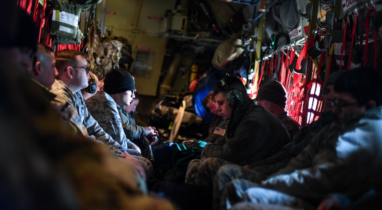 U.S. Air Force and Army service members wait to deplane a C-130J Super Hercules after landing at Elefsis Air Base, Greece, April 19, 2017. The military members will be participating in Exercise Stolen Cerberus IV with the Hellenic air force till April 28. The purpose of the exercise is to train U.S. and Greek forces while strengthening the partnership between two North Atlantic Treaty Organization allies. (U.S Air Force photo by Senior Airman Tryphena Mayhugh)
