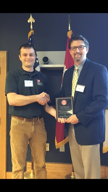 St. Louis District Hydraulic engineer and Water manager received the 2017 Hydrology, Hydraulics and Coastal Community of Practice Professional of the Year award for the positive impact his service and water management expertise has had on the U.S. Army Corps of Engineers, the region, and the nation.