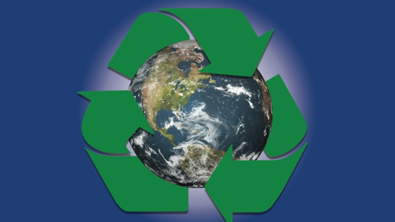 """In fiscal year 2016, Sheppard collected 334.14 tons of cardboard, reselling it at its current price of $195 per ton resulting in not only earning approximately $65,000, but also saving the base nearly $10,400 in landfill costs. Since President Obama signed Executive Order 13693, """"Planning for Federal Sustainability in the Next Decade,"""" March 19, 2015, Sheppard's direction became specifically focused on efforts to reduce greenhouse gas emissions through areas such as a smaller footprint in landfills. (U.S. Air Force graphic by 2nd Lt. Brittany Curry)"""