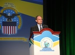 Steven Iselin, acting assistant Secretary of the Navy (Energy, Installations and Environment), U.S. Department of the Navy, spoke during the plenary session at the Worldwide Energy Conference held at the Gaylord National Hotel and Conference Center in National Harbor, Maryland, April 11.