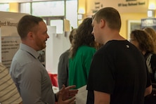 The Huntington District showcased the wide array of careers  available with the Corps of Engineers in the first ever Corps of Engineers Day at Marshall University.