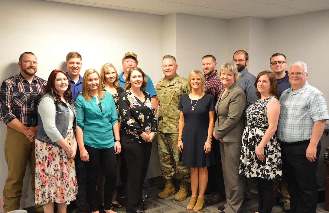 The Huntington District conducted a graduation ceremony for the LDP level 1 class with COL Secrist awarding certificates to: Zack Abbott, Andrew Auxier, Wanda Booth, Eric Jones, Greg Lovins, Jeanne Ann Mullins, Bryan Muroski, Ashley Pierson, Kayla Price, Glenda Robinson, Kyle Scholz, Ashley Stephens, Shane Taylor, Megan Thompson and Derek Wagoner.