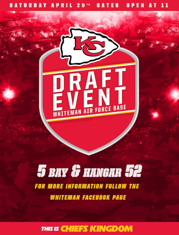 Whiteman AFB Draft Day 2017 Flyer