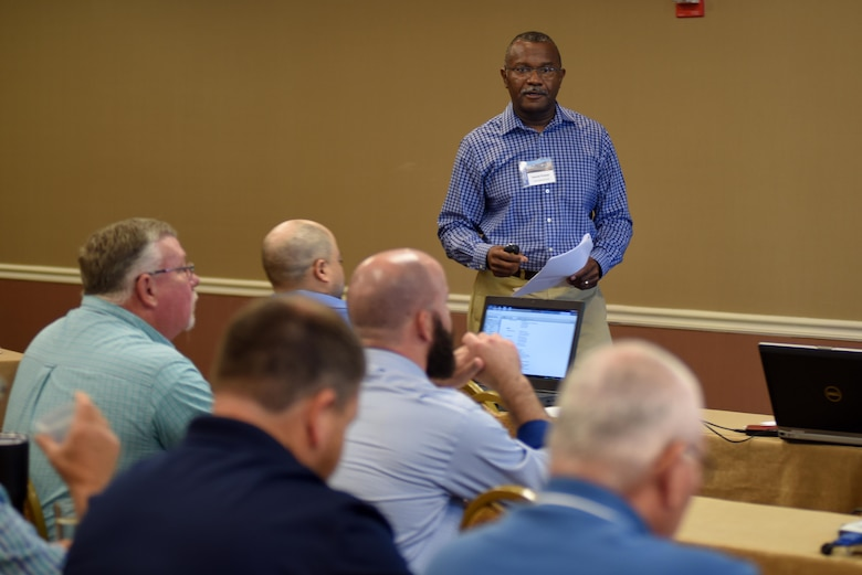Harold Pickett, North Georgia Hydro, explains how to use technology to improve the effectiveness of security cameras at hydropower facilities during the 40th Annual Joint Hydropower Conference April 19, 2017 in Nashville Tenn.