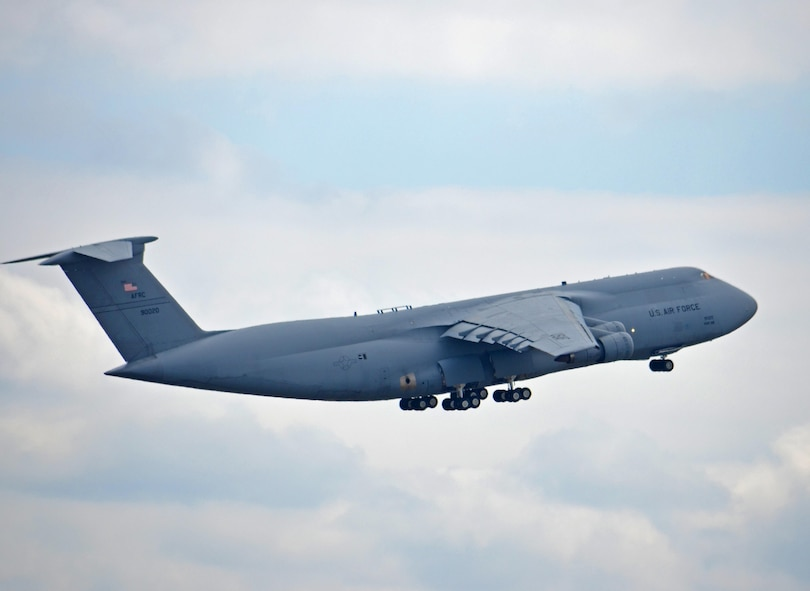 The oldest C-5 in the Air Force fleet departed Westover April 20 for the boneyard in Arizona. Tail 69-0020 – one of the original C-5s assigned to the 439th Airlift Wing when C-5 operations began at Westover in 1987 – lifted into cloudy horizon on its last flight for Davis-Monthan Air Force Base, near Tucson. According to statistics from the 439th Maintenance Group, this Galaxy was assigned to the 433rd Airlift Wing at Joint Base Lackland-San Antonio. It's been among several loaner A models assigned to Westover to help bridge the gap between the 439th AW's conversion from B to M models. This C-5, built in 1969, had more than 21,000 flight hours. It was first delivered to the 60th Military Airlift Wing at Travis Air Force Base, Calif., in November 1971. The remaining three C-5As at Westover are scheduled to be retired by the end of the summer, as the conversion to the Super Galaxies gets under way.