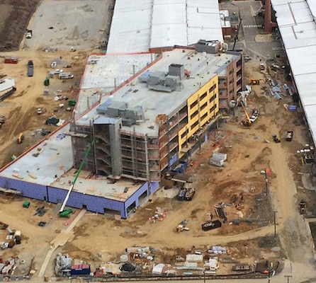 Aerial view of DLA Aviation Operations Center construction site Feb. 13 2017.