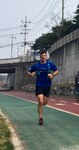 "Army Capt. Brandon Carius, a physician assistant from 1st Battalion, 5th Field Artillery Regiment, demonstrated his ""fight-tonight"" readiness by running about 42 miles from Camp Hovey to Yongsan district, Seoul, South Korea, April 8, 2017. Army photo"