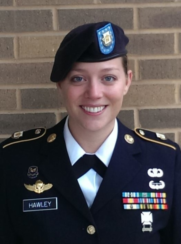 Staff Sgt. Sarah Hawley, a paralegal noncommissioned officer with the U.S. Army Reserve Legal Command is the 2017 recipient of the Sergeant Eric L. Coggins Award for Excellence. (photo / contributed)
