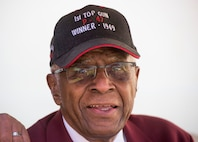 Tuskegee Airman James Harvey attends the Maxwell Air Show at Maxwell Air Force Base in Montgomery, Ala., on Saturday April 8, 2017.(Photo: Mickey Welsh/ Advertiser)