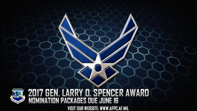 Air Force officials are in search of nominees for the 2017 General Larry O. Spencer Innovation Awards. All submissions are due to the Air Force Personnel Center by June 16. (U.S. Air Force graphic by Staff Sgt. Alexx Pons)