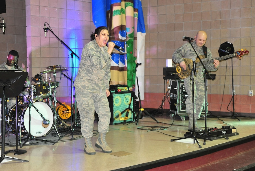 "The USAFA band Blue Steel performs a concert April 24 in Magdalena. Blue Steel is committed to enhancing community relations, supporting the recruiting mission of the United States Air Force Academy and instilling the Air Force core values of ""Integrity, Service and Excellence"" in our nation's youth."