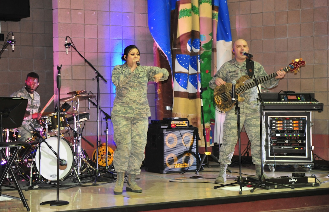 """The USAFA band Blue Steel performs a concert April 24 in Magdalena. Blue Steel is committed to enhancing community relations, supporting the recruiting mission of the United States Air Force Academy and instilling the Air Force core values of """"Integrity, Service and Excellence"""" in our nation's youth."""