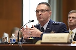 Air Force Gen. Joseph Lengyel, chief of the National Guard Bureau, testifies on National Guard and Reserve programs and readiness during a Senate Defense Appropriations Subcommittee hearing in Washington, D.C., April 26, 2017. National Guard photo by Tech. Sgt. Erich B. Smith