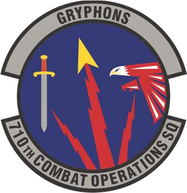 The 710th Combat Operations Squadron's official patch
