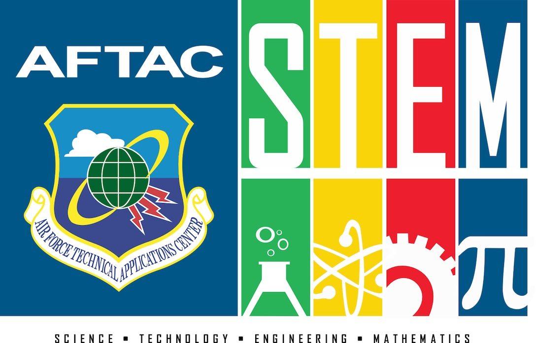 Graphic illustration of the Air Force Technical Applications Center's STEM program.