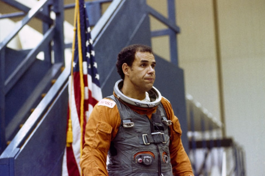 Astronaut Fred Gregory, a 1964 graduate of the U.S. Air Force Academy, is the first African-American to pilot the space shuttle as a member of the Challenger crew on mission STS-51B. (NASA photo)