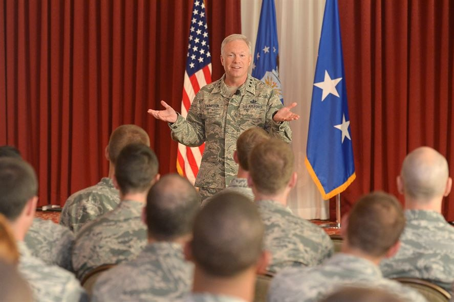 Lt. Gen. John Thompson, AIr Force Life Cycle Management Center commander, is leaving AFLCMC to serve as commander of the Air Force Space Command's Space and Missile Systems Center at Los Angeles AFB, California (U.S. Air Force photo / Jerry Saslav)