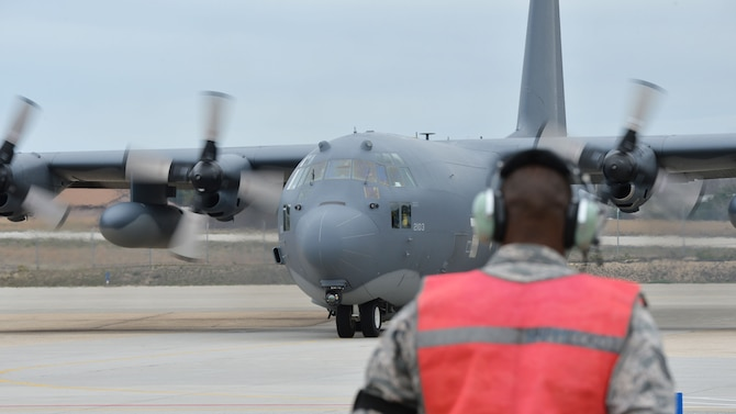 Members of the 106th Rescue Wing assigned to New York Air National Guard, prepare to take off for a rescue mission at Lajes, Azores, April 24, 2017, Westhampton Beach, N.Y. The mission is to locate the aircraft and drop para-rescuemen who will board the ship and provide emergency medical care to the crew. (U.S. Air Force photo by Master Sgt. Cheran A. Cambridge)